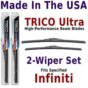 Buy American: TRICO Ultra 2-Wiper Blade Set fits listed Infiniti: 13-26-17