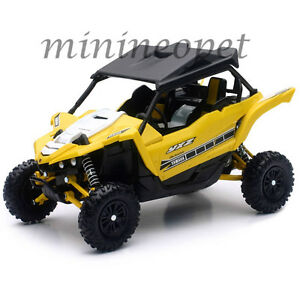 NEW RAY 57813 B YAMAHA YXZ 1000R TRIPLE CYLINDER ATV 1/18 YELLOW
