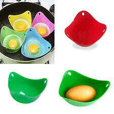 1 Random Silicone Egg Poacher Cook Poach Pods Cookware Poached Kitchen Tools New