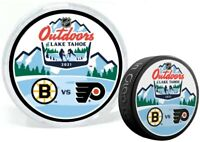 2021 Lake Tahoe NHL Stadium Series Bruins v Flyers Dueling Puck in Display Tube