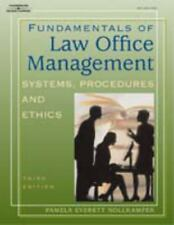 Fundamentals of Law Office Management (West Legal Studies Series)