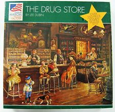 "Coca Cola 550 Piece Amer. Puzzle Factory - ""Drug Store"" 1994 New Factory Sealed"