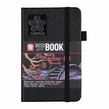 Sakura Sketch & Note Book 80 Sheets Black Paper 9 x 14cm
