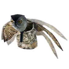 Bird Scarer Owl Decoy Pest Repellent With Prowler Moving Wing Garden Scarecrow