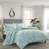 Tommy Bahama Tidewater Jacobean Comforter Set, Queen, Blue