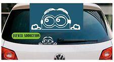 PEEPING MINION - Vinyl Car Van Bike Wall Window Tablet Decal Sticker Logo