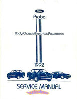 SHOP MANUAL PROBE SERVICE REPAIR 1992 FORD BOOK HAYNES CHILTON