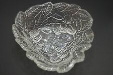 Uniquely Shaped Candy Dish With Berry/Leaf Motif