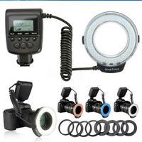 Macro 48 pcs LED Ring Flash Light for SONY Nikon Canon Olympus DSLR Camera