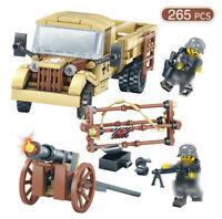 265pcs Militär Fahrzeug Modell Bausteine mit Soldat Figuren Flugzeuge Spielzeug