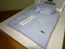 LACOSTE MENS REGULAR FIT COTTON OXFORD SHIRT FR 38/40/42 XS/M/M-L £120