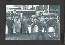 Nostalgia Postcard Winston Churchill his Horse Colonist 11 wins  Hurst Park 1951