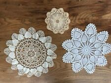 """New listing Vintage Doilies-6"""", 13"""", 13"""" approximately"""