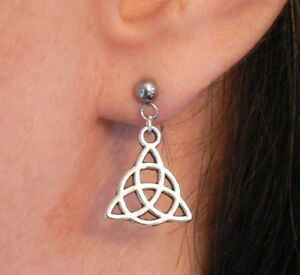 Charmed Power of Three Triquetra Hypo-allergenic Earrings Pru Piper Phoebe Paige