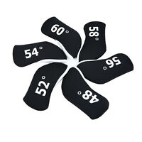 6pcs Neoprene Golf Wedge Cover For Mizuno Titleist Taylormade Ping Golf Wedge