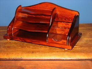Holz Ablage Box Briefablage Stifthalter Schreibtisch  Papierablage Organizer