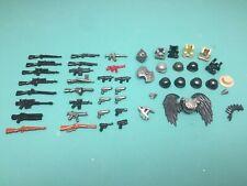 Custom LEGO BrickArms weapons and gear lot - WWII, military, rifle, gun, helmet