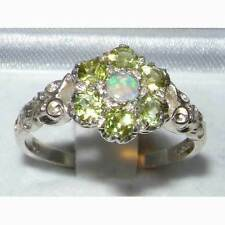 Peridot Cluster Natural Round Fine Gemstone Rings