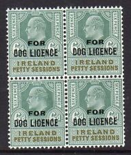 Ireland 1903 Dog License 6d in a fine MNH block x 4