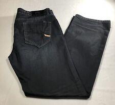 PARASUCO Denim Legend 40x34 L Mens Stretch Blue Jeans Straight Leg Red Zipper