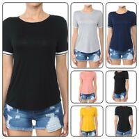 Womans Plus Size T Shirt Jersey Short-Sleeve Crew neck Women's Tee(1XL-3XL)