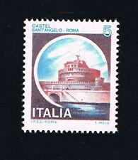 ITALIA FRANCOBOLLO CASTELLI D'ITALIA 5 LIRE SANT'ANGELO ROMA 1980 nuovo**