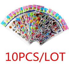 10Pcs 3D Kid'sCartoon Stickers PVC Stereoscopic Sticker Children Gift Wall Decor