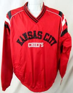 Kansas City Chiefs Mens Large Pullover Reversible Windbreaker Jacket AKAC 237