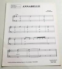 Partition vintage sheet music PASCAL OBISPO : Annabelle * 90's