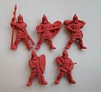 5pcs Russian Knights Plastic Toy Soldier 54mm 1/32 scale Tehnolog (red color)