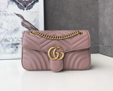 Gucci GG Marmont Medium Pink Matelassé Leather Shoulder Bag