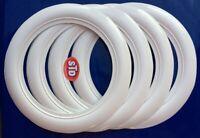 """13"""" tyre wheels 2.5"""" Wide Port a wall Whitewalls insert Set Firestone tyre Style"""