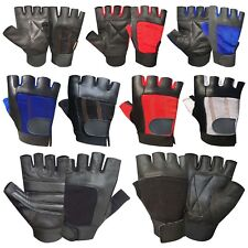Weight lifting leather padded gloves fitness training body building gym cycling