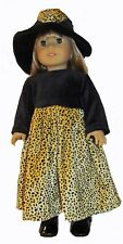 Leopard Print Dress and Hat 2pc Set  Fits 18 inch American Girl Dolls
