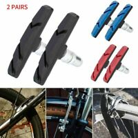 1-2X/Pairs V Type Brake Pads Shoes For BMX Road MTB Bike Bicycle Road Cycling US