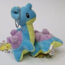 "4"" Pokemon Lapras Soft Stuffed Plush Toy Doll Keychain Keirings Charm Kids Gift"