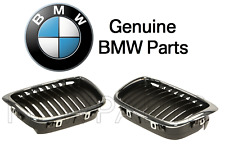 For BMW E39 525i 528i Pair Set of Driver & Passenger Side Grilles Black Genuine