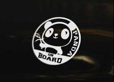 PANDA ON BOARD Vinyl Graphic Decal Car Bumper Sticker JDM