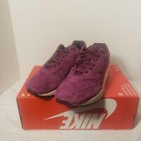New Nike Air Max 1 Premium Mens Suede Bordeaux Purple White 875844-602 Size 10.5