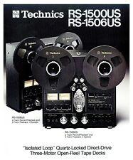 Technics RS-1506US RS-1500US reel-to-reel deck b&w PAPER COPY of rare brochure
