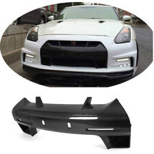 Carbon Fiber Front Grille Mesh Nose License Plate Cover For Nissan GTR R35 10-15