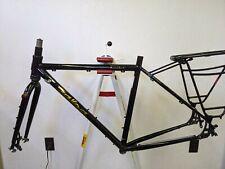 Salsa Marrakesh drop bar steel gravel touring bicycle frame, fork, rack 54cm