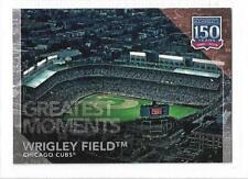"WRIGLEY FIELD (CUBS) - 2019 TOPPS UPDATE ""150 YEARS OF BASEBALL"" INSERT CARD #36"