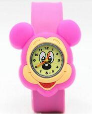 Quality Mickey Mouse Girls Kids Wrist Watch Mickey Rose Pink Slap Strap FC QTY
