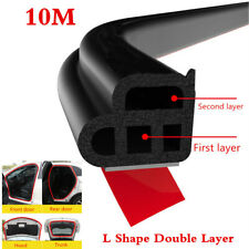 Upgraded 10M Double Layer  Seal Strip Car Door Trunk Weather Strip Edge Moulding