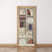 3D Self-adhesive Shelf Cabinet Living Room Door Murals Wall Stickers Wallpaper