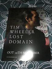 Tim Wheeler (ash) - Lost Domain     Promo poster -mint