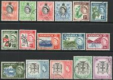 JAMAICA-1956-58 Set to £1 Sg 159-174 FINE USED V43954