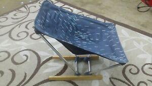 REI EVRGRN Camping Rocker Chair Gray Packable lightweight Seat