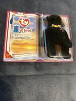 "2000 McDonald's Ty Teenie Beanie Baby ""The End"" Black Bear Unopened-""ERROR""!!!!!"